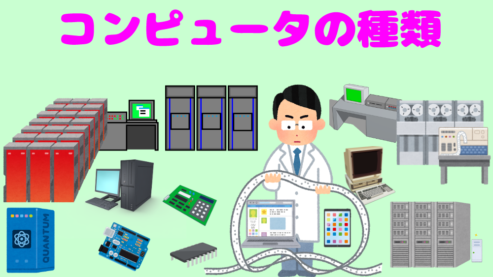コンピュータの種類(初心者向け)基本的に、わかりやすく説明